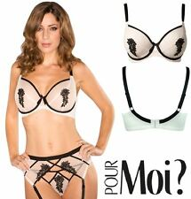 Pour Moi Boudoir Underwired Full Cup Bra 9302 Nude Black