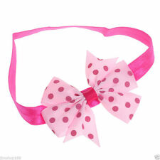 "BABYS/TODDLERS STRETCHY HEADBAND 3 "" BOW  ,,PINK AND LIGHT PINK"