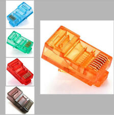 5x/10x RJ45 Plug Cat5 Modular LAN Network Connector Internet Ethernet Cable Lot