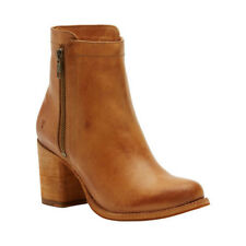 Frye Women's   Addie Double Zip Ankle Boot Natural Antique/Polished Leather Size