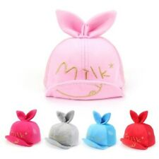 Summer Baby Kids Baseball Hat Boys Girls Cute Rabbit Ear Cap Beret Sun Hat
