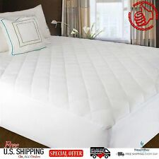 Mattress Cover Protector Topper Quilted Pad Fitted Top Waterproof Bed Cover Size