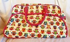 Rolling Suitcase Duffel Bag Owls Paws Leopard Ladybug Luggage Carry On NEW Wheel