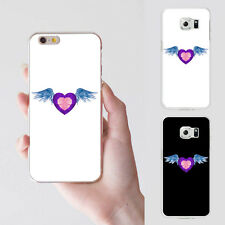 Fashion Heart Angel Wing Plastic Phone Case Cover for iPhone 5 Samsung Abundant