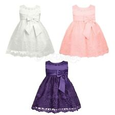 Lace Baby Kids Party Flower Girl Wedding Bridesmaid Gown Princess Formal Dress