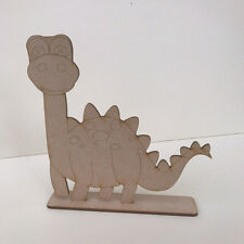 MDF Wooden Craft Shape Blank DINOSAUR on Stand 3 Designs to Choose from