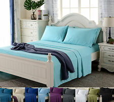 4 Piece Deep Pocket Bed Sheet Set 1800 Series Super Deluxe Quality