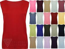 Ladies Loose Fit Vest Waffle Textured Casual Top Sleeveless Summer T shirt