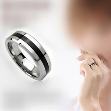 Mens Jewelry Free Shipping Vintage Stainless Steel Ring Band Titanium 6mm