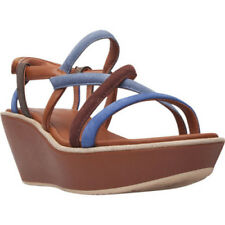 Camper Women's   Damas Strappy Platform Wedge Sandal Multi/Assorted Nubuck Size