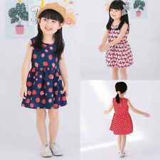 Toddler Kids Baby Girls Summer Casual Princess Pageant Party Tutu Dress Sundress