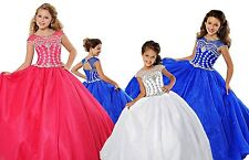 2017 Princess Flowr Girls Ball Gown/Pageant Dress Birthday Party Formal  Glitz