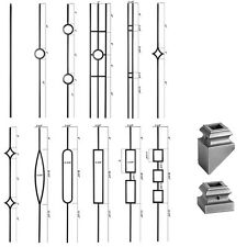 Ash Grey - Aalto Iron Balusters - HOLLOW Wrought Iron - Stair Parts