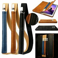 Genuine Leather Protective Skin Shell Cover Pouch Bag for Apple iPad Pro Pencil
