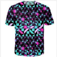 New Short sleeve Women/Mens Psychedelic geometry 3D Print Casual T-Shirt s-5xl