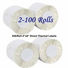 2-100 Rolls 450/Roll 4x6 Direct Thermal Shipping Postage Labels Zebra ZP450 USPS