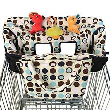 Shopping Cart Cover Baby 2 In 1 High Chair Boy Girl Soft Shopping Restaurant New
