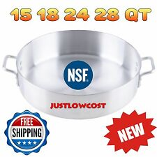 NSF Standard Weight Aluminum Brazier No Cover Simmering Browning Commercial