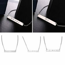 Fashion Stainless Steel Pendant Necklace Chain Women Men Jewelry Custom Style