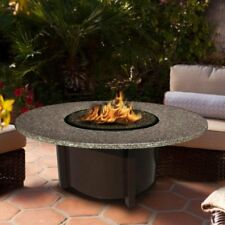 American Fire Products Carmel Chat Height Round Granite Top Gas Fire Pit