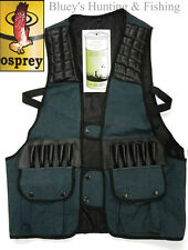 Osprey GREEN Drill Shooting Vest,Duck Shooting,clay shooting Vest-small