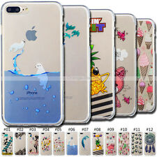 Various Cute Soft Clear Rubber Skin TPU Cover Case For iPhone SE 5S 6S 7 Plus