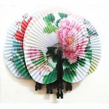 Paper Chinese Folding Fans - Loot/Party Bag Fillers Travel Fan Suit for Handbag