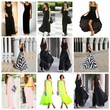 Womens Boho Casual Cotton Evening Party Beach Dress Long Maxi Summer Vest Dress