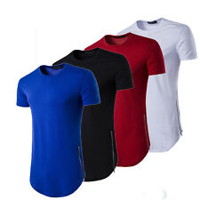 HOT Men's Slim Fit V Neck Short Sleeve Muscle Tee T-shirt Casual Tops Blouse