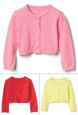 Baby Gap Girls Long Sleeve Crew Button Pointelle Cardigan Sweater Layering NWT