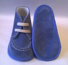 smart Spanish Cuquito baby real suede boots blue spring summer holidays new
