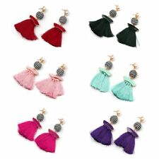 Fashion Boho Tassel Pendant Drop Dangle Ear Stud Earrings Jewelry For Women Lady