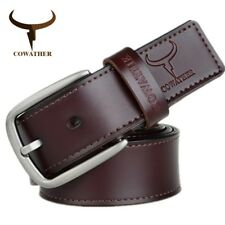 FASHION DESIGN COW GENUINE LEATHER BELTS HIGH QUALITY BELT FOR MEN PIN BUCKLE