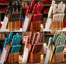 Kitchen Knife Set Block The Pioneer Woman Stainless Steel Cutlery Knives 14PC