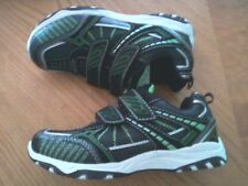 PRO SPIRIT~KIDS SHOES~SIZE 2 YOUTH~ATHLETIC~GREEN BLACK~TENNIS SPORTS~SNEAKER