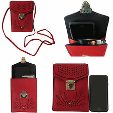 Cell Phone Cross Body Bag with Shoulder Strap Faux Leather Purse for Women