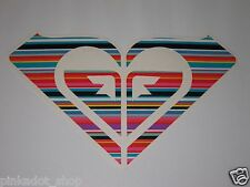 "Roxy 7 5/8"" Surf Skate Snow Board Decal Sticker Die Cut Multi Color Stripes #2"