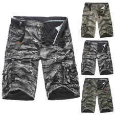 Mens Chic Camo Combat Shorts Military Army Cropped Trousers Cargo Pants Shorts