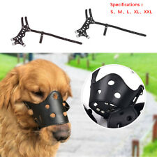 Durable Leather Dog Puppy Basket Type Adjustable Training Muzzle Chew Control