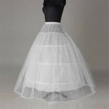 New 3 Hoop 2 Layer Wedding Bridal Gown Dress Underskirt Petticoat White