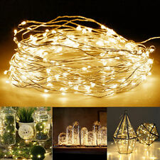 20/40/50 LED Fairy String Lights Wedding Xmas Outdoor/Indoor Battery Operated