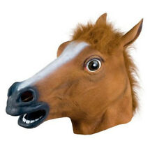 Halloween Cosplay Adults Rubber Horse Head Mask Latex Animal Party Costume Panto