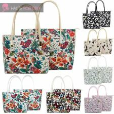 LADIES NEW COLLEGE SCHOOL FLOWER BUTTERFLY PRINT LYDC BRAND TWO SHOULDER BAG SET