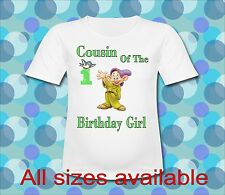 Any Saying Brother of the Birthday Girl Doc Dwarf T Shirt All Sizes Seven Dwarfs