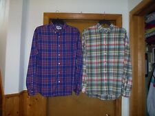 Long Sleeve Full Button front Men's Shirts size XL Old Navy Multi Color Plaid NW