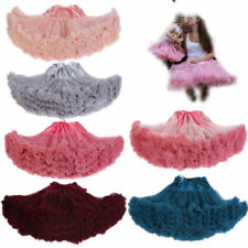 Women Bridal Tulle Tutu Ballet Dance Skirt Wedding Cosplay Petticoat Underskirt