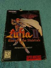 SNES Super Nintendo Lufia II Rise of the Sinistrals Manual Only (No Game, No Box
