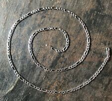 New Solid Sterling Silver Figaro Link Chain Italian 925 4MM Mens Womens Necklace