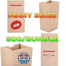 Lunch Deli Bakery Grocery Brown Paper Bag Recycle Gift Shop Coffee Heavy Duty