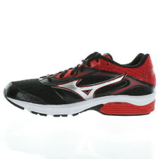 Mizuno 2490 Athletic Mens Wave Impetus 4 Running Shoes Black Red White Silver